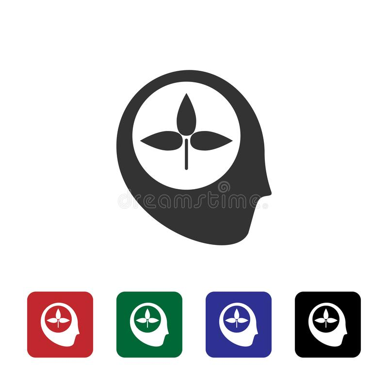 Consciousness, learning, biology vector icon. Simple element illustration from biotechnology concept. Consciousness, learning, vector illustration