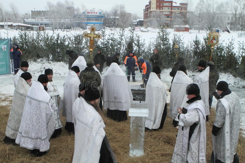 Download Consecration Ice-hole - Epiphany Editorial Stock Image - Image: 12734844