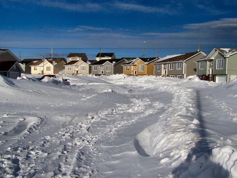 Consecuencias 2 de la tormenta del invierno foto de archivo libre de regalías