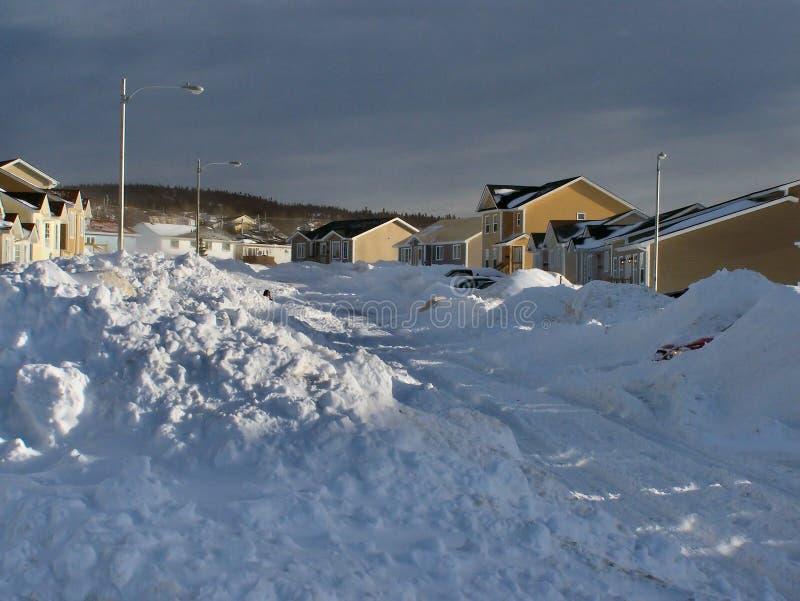 Consecuencias 3 de la tormenta del invierno fotos de archivo libres de regalías