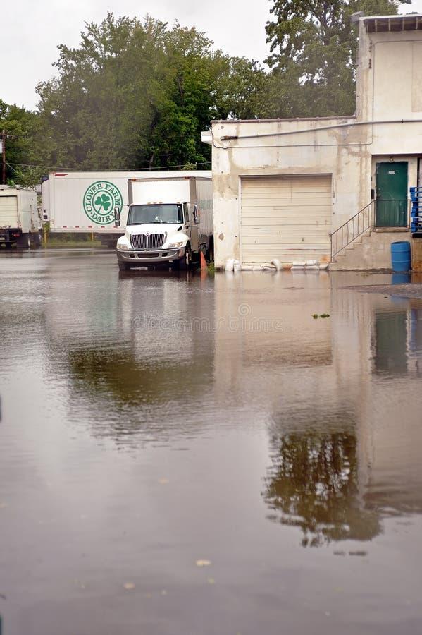 Consecuencias de Irene del huracán en el área de Philadelphia imagen de archivo libre de regalías
