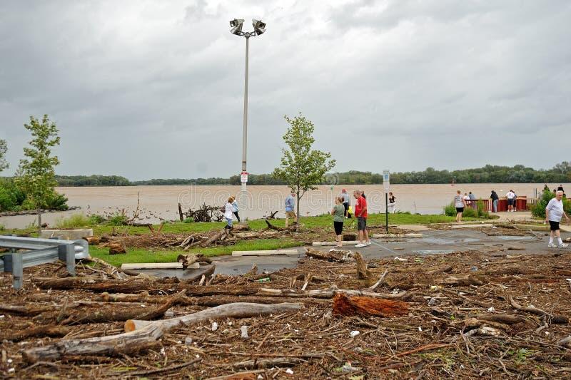 Consecuencias de Irene del huracán en el área de Philadelphia fotografía de archivo