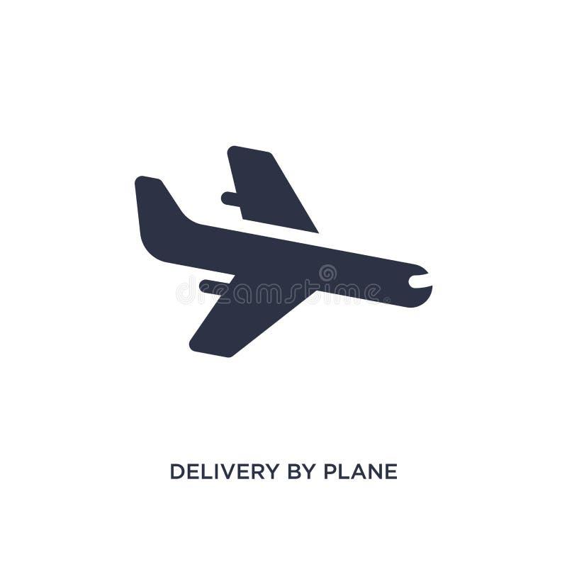 consegna dall'icona piana su fondo bianco Illustrazione semplice dell'elemento dal concetto di logistica e di consegna illustrazione vettoriale