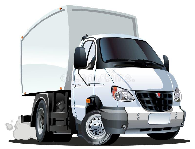 Consegna del fumetto/camion del carico royalty illustrazione gratis