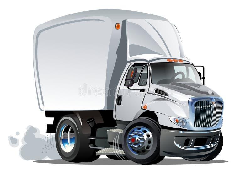Consegna del fumetto o camion del carico illustrazione di stock