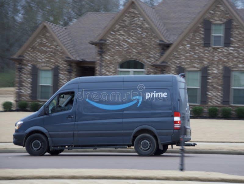 Consegna dell'Amazon Prime fotografie stock libere da diritti