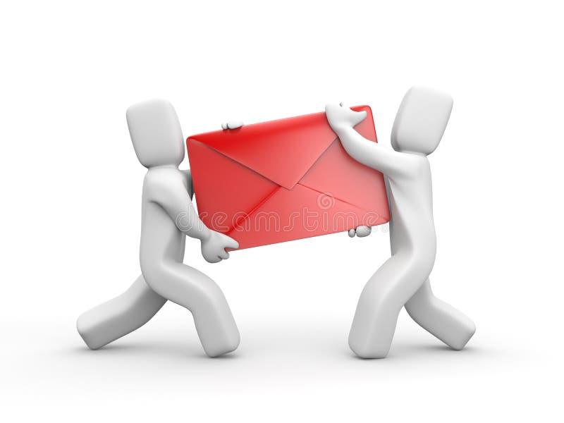 Consegna della lettera illustrazione di stock