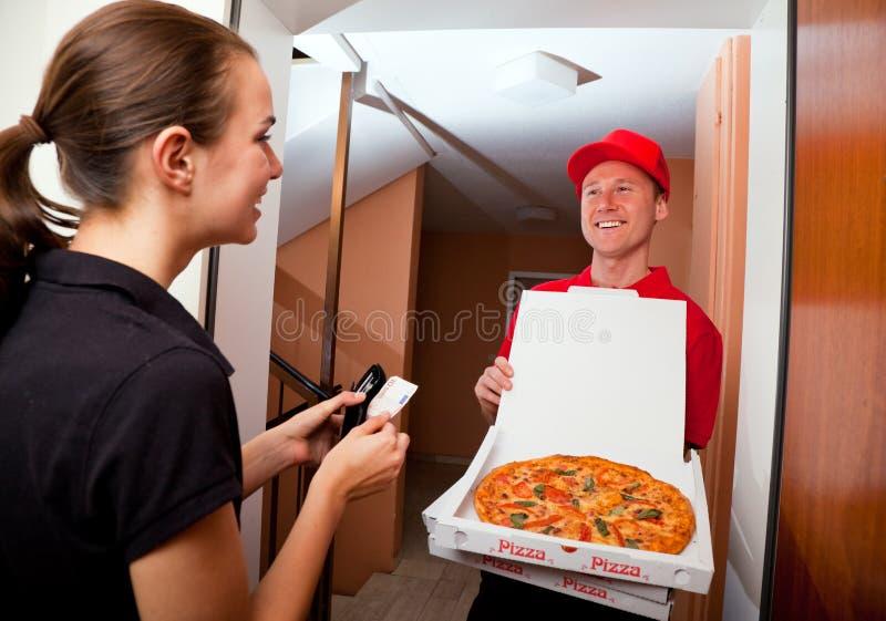 Consegna della pizza fotografie stock libere da diritti