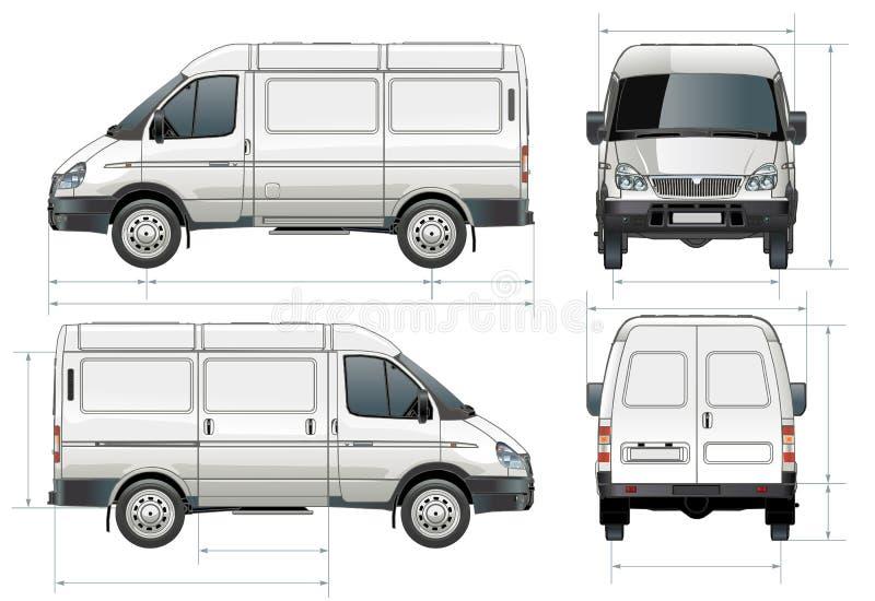 Consegna di vettore/furgone del carico illustrazione di stock