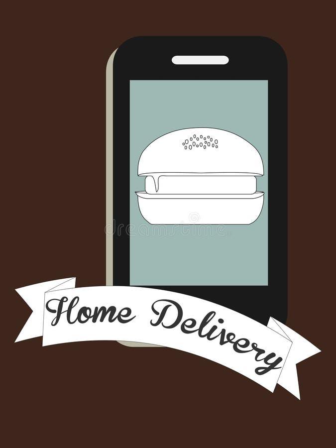 Consegna a domicilio di alimento royalty illustrazione gratis