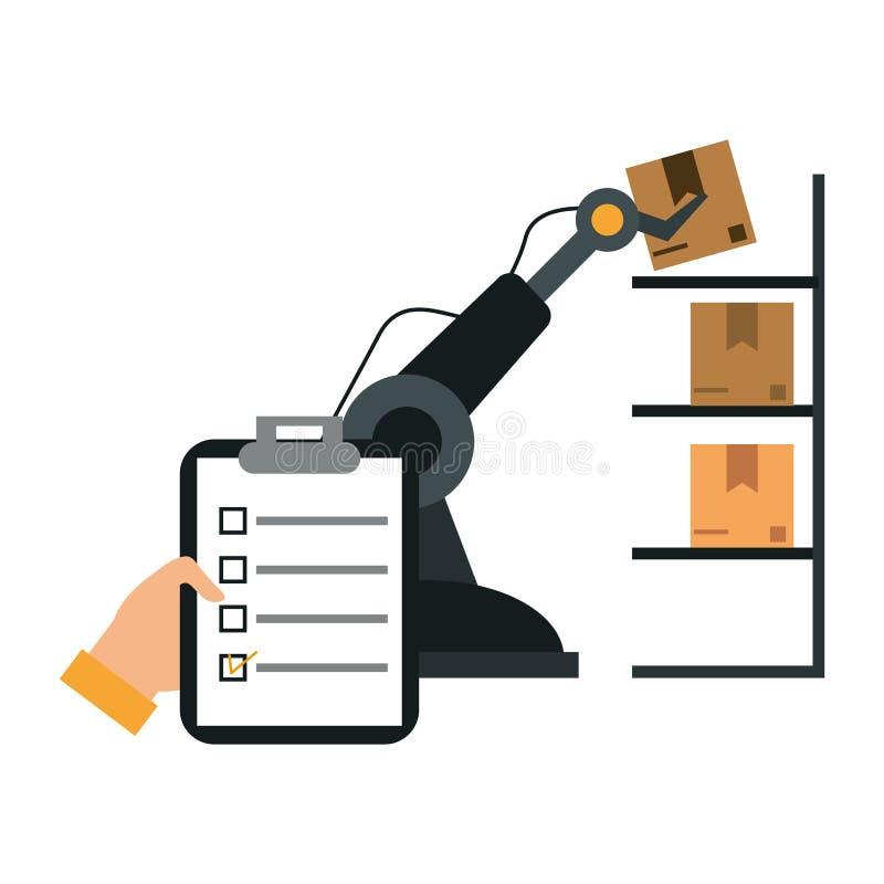 Consegna e logistica illustrazione vettoriale