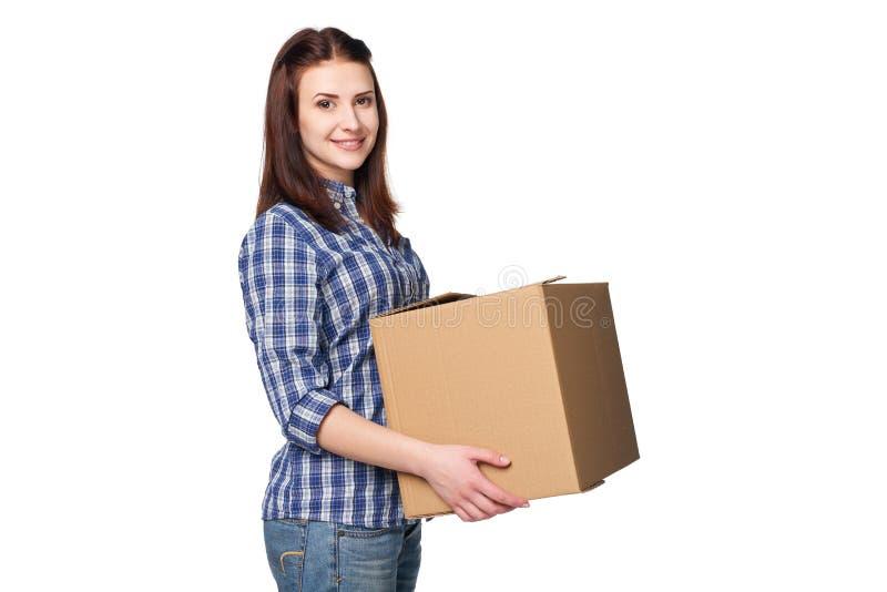 Consegna, rilocazione e concetto di disimballaggio immagine stock