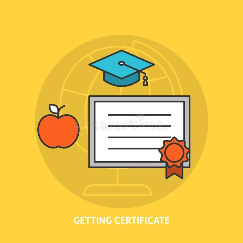 Conseguir concepto del certificado stock de ilustración