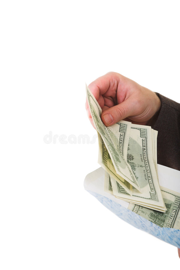 Conseguir el dinero foto de archivo