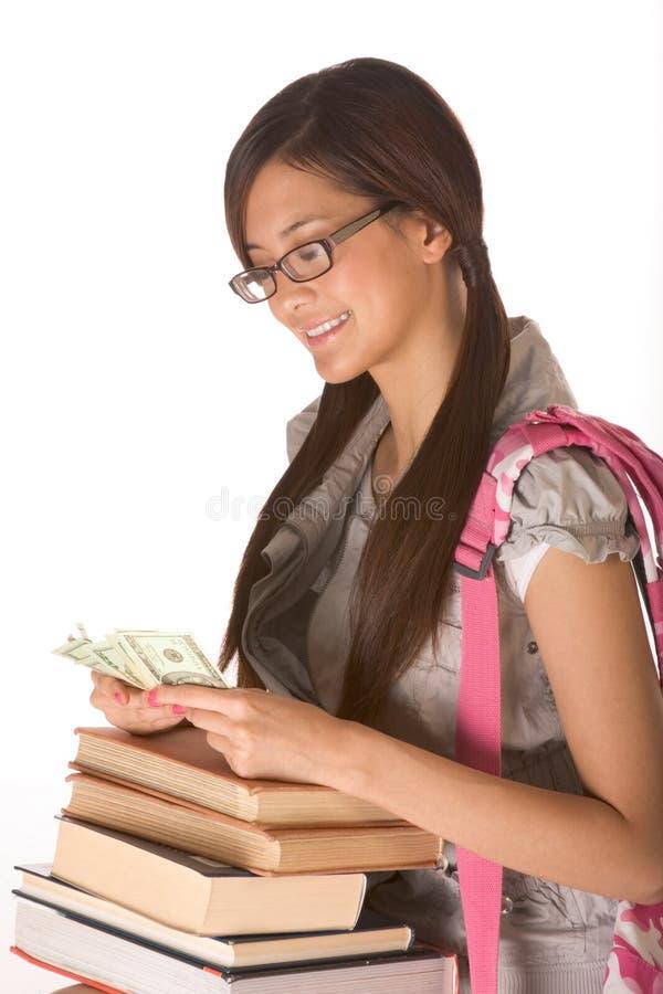 Conseguir el dinero de la cuota para cubrir el coste de educación imagen de archivo