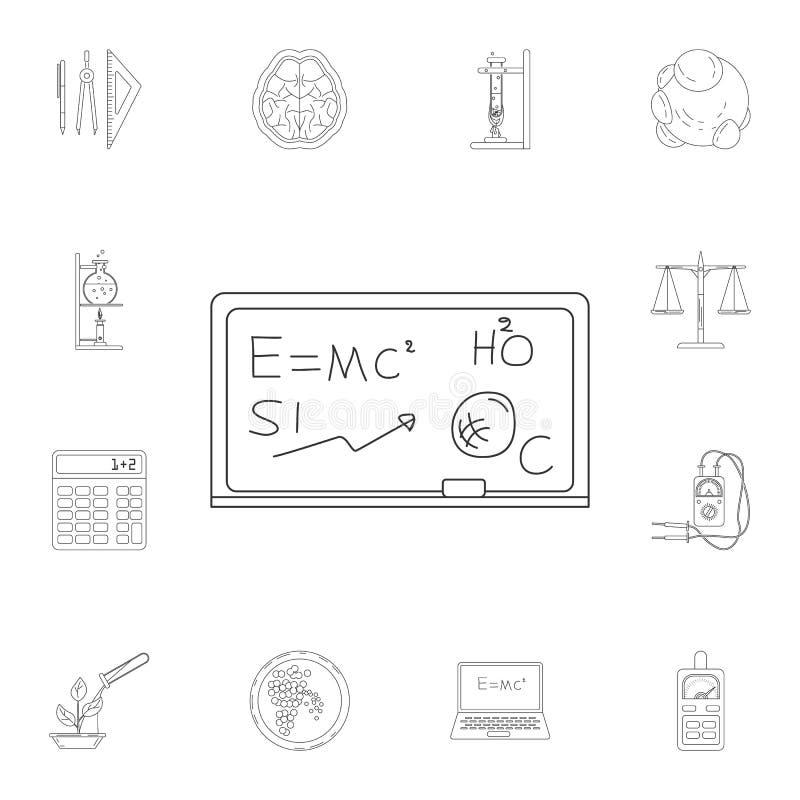 conseil avec l'icône de formule Ensemble détaillé d'illustrations de la Science et de laboratoire Icône de la meilleure qualité d illustration libre de droits