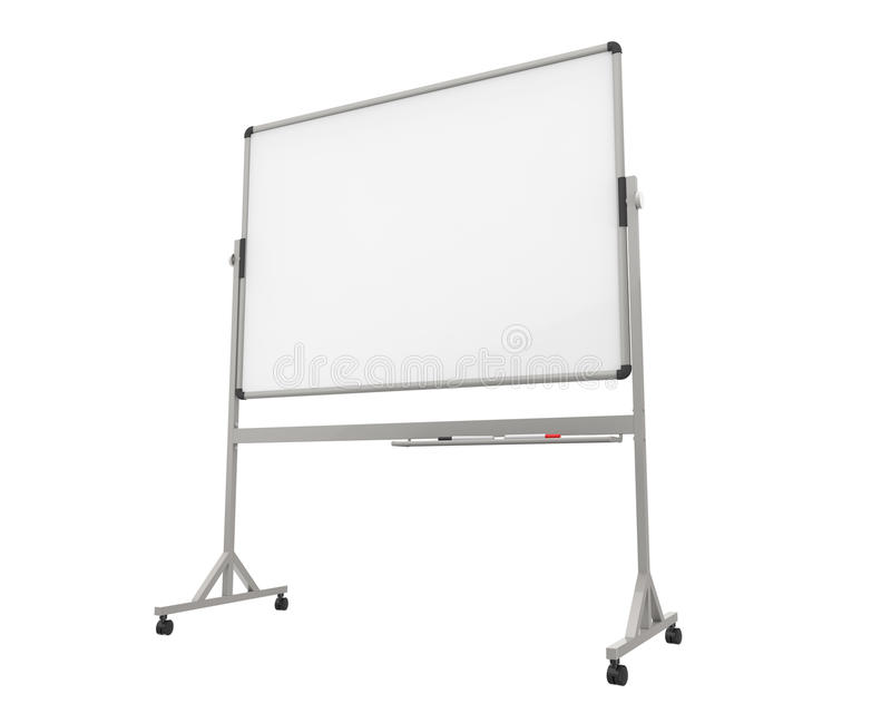 Tableau blanc vide illustration stock