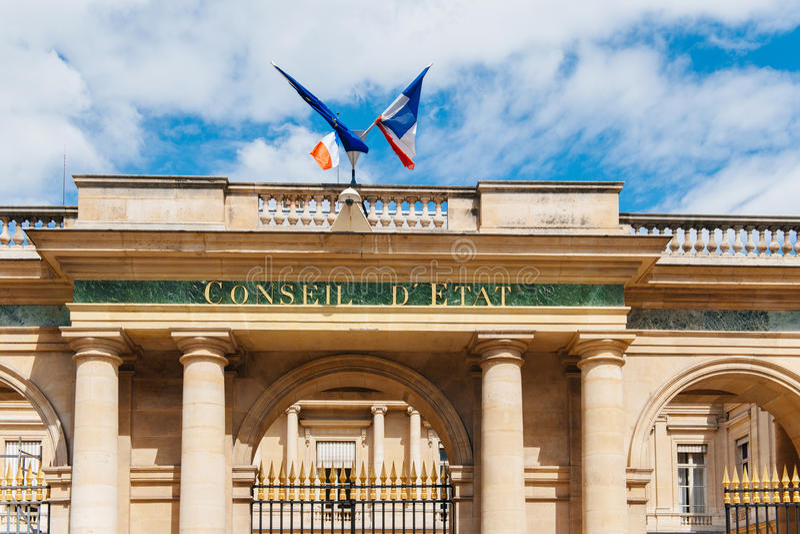 Conseil d'Etat - Council of State, Paris France royalty free stock image