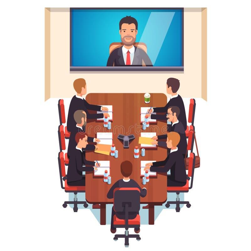Conseil de directeurs de société illustration stock