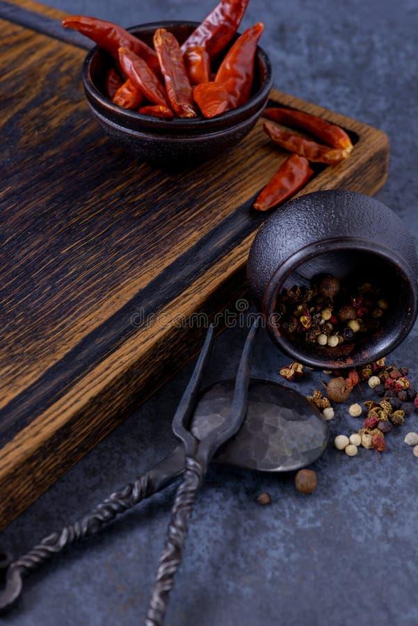 Conseil en bois vide pour la viande images stock
