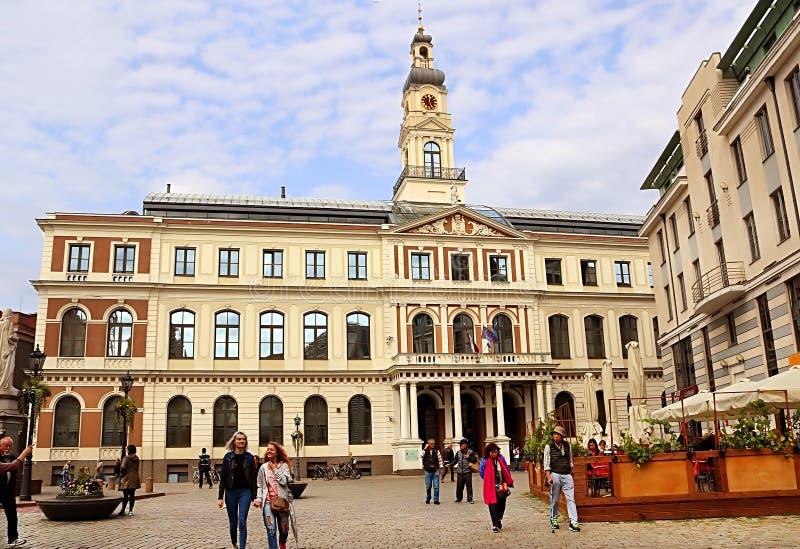 Conseil municipal de Riga, letton : Dôme de Rigas, Lettonie photo libre de droits