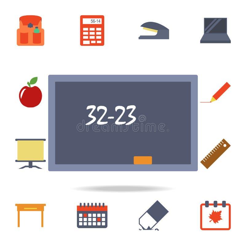 conseil pédagogique avec l'icône colorée par équation Ensemble détaillé d'icônes colorées d'éducation Conception graphique de la  illustration stock