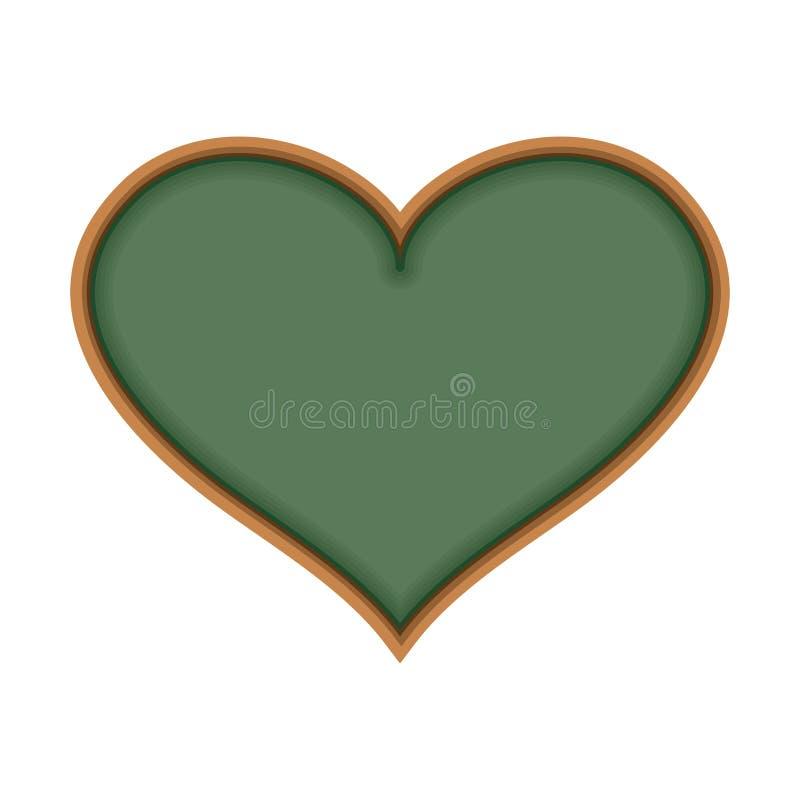 Conseil pédagogique sous la forme de coeur J'aime apprends J'aime étudier illustration stock