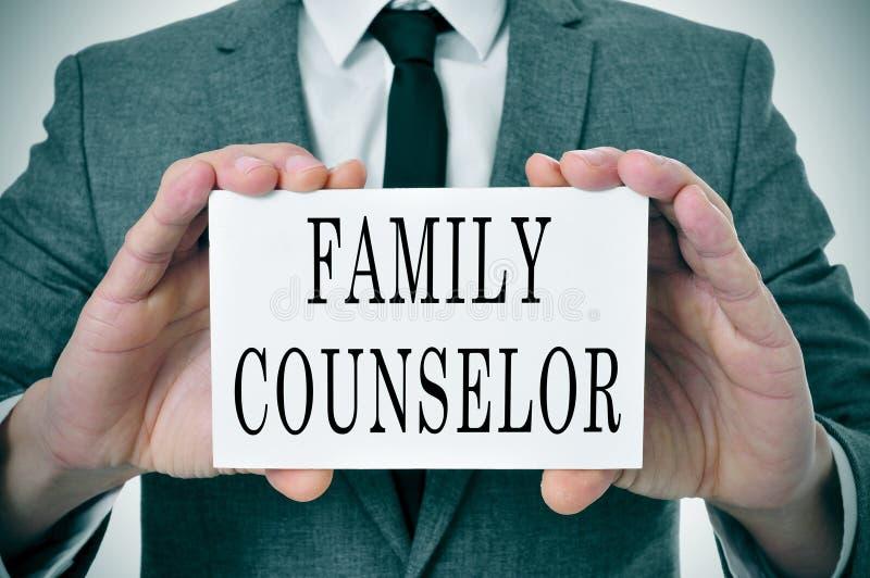 Conseiller de famille photographie stock