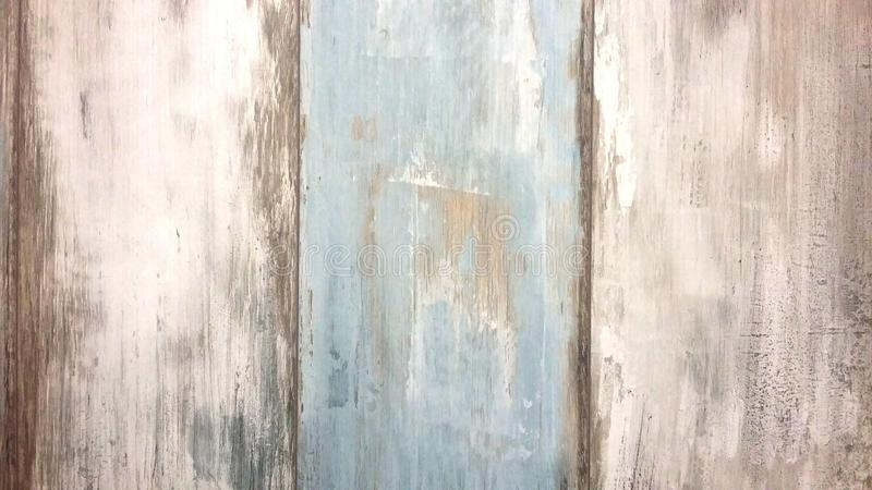 Conseils en bois, blanc et bleu dans le rétro style, vieux fond de conseils photos libres de droits