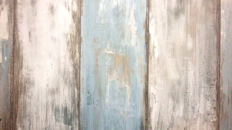 Conseils en bois, blanc et bleu dans le rétro style, vieux fond de conseils photo stock