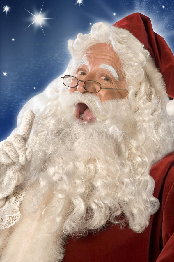 Consejo de Papá Noel (camino de w/Clipping) imagenes de archivo
