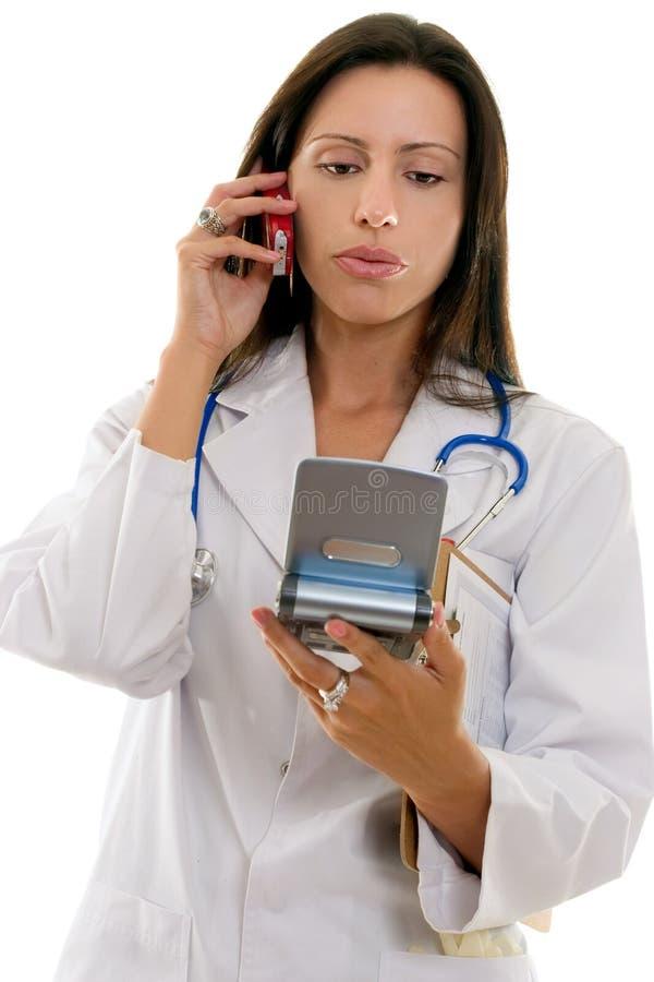 Conselho do telefone do médico fotos de stock