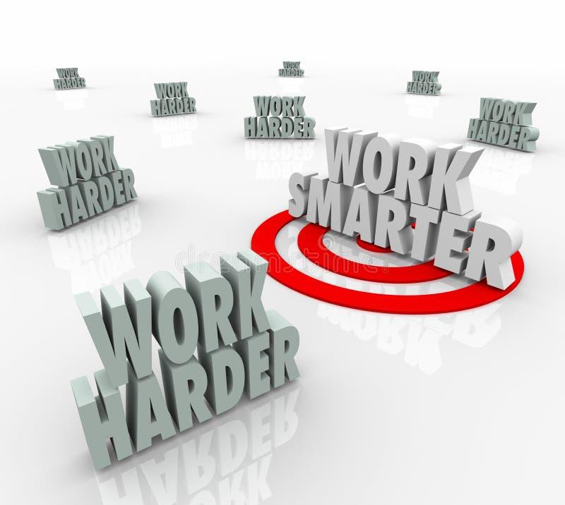 Conselho visado mais esperto da eficiência da produtividade do trabalho contra mais duramente ilustração do vetor