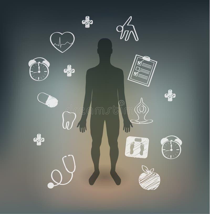 Conselhos humanos dos cuidados médicos ilustração royalty free