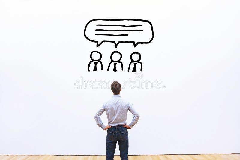 Consenso degli azionisti, concetto di parere di un esperto immagini stock
