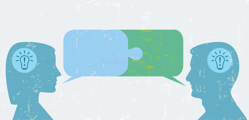 Consensus, dialogue illustration stock