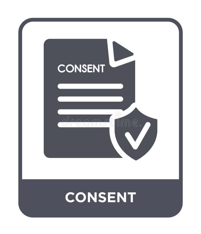 Consent icon in trendy design style. consent icon isolated on white background. consent vector icon simple and modern flat symbol. For web site, mobile, logo royalty free illustration