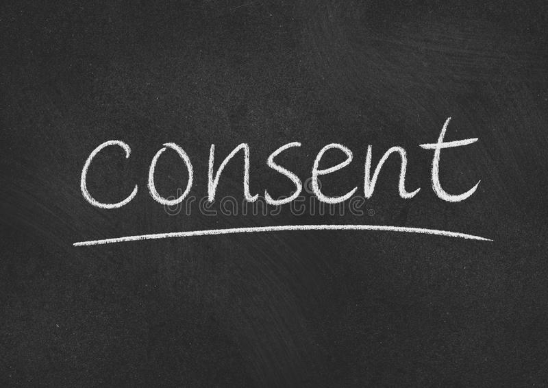 consent royaltyfria bilder