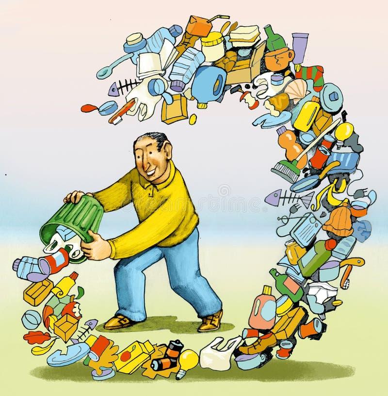 Consequências da poluição ilustração stock