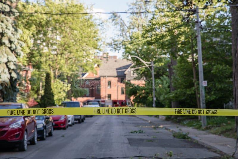 Consequências da tempestade maciça na área do anexo em Toronto fotografia de stock
