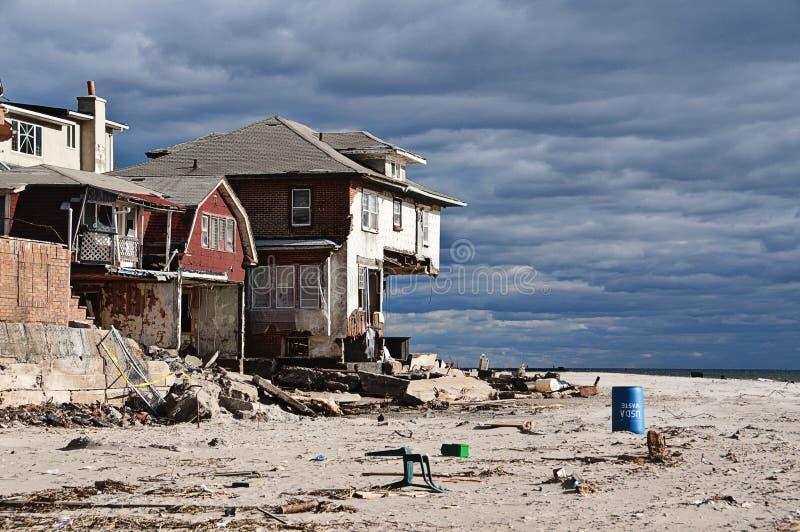 Consequências de Sandy do furacão fotos de stock royalty free