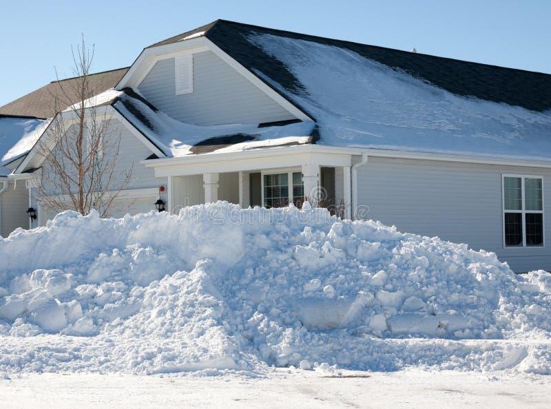 Consequências do blizzard imagens de stock