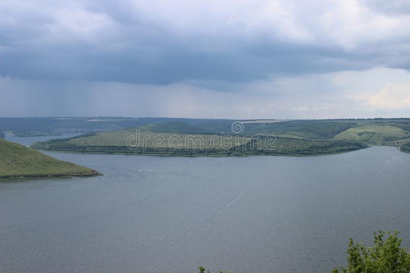 Conserva natural e o rio - Bakota fotografia de stock royalty free