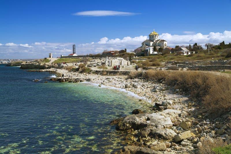Conserva nazionale di Tauric Chersonesos, Ucraina immagini stock
