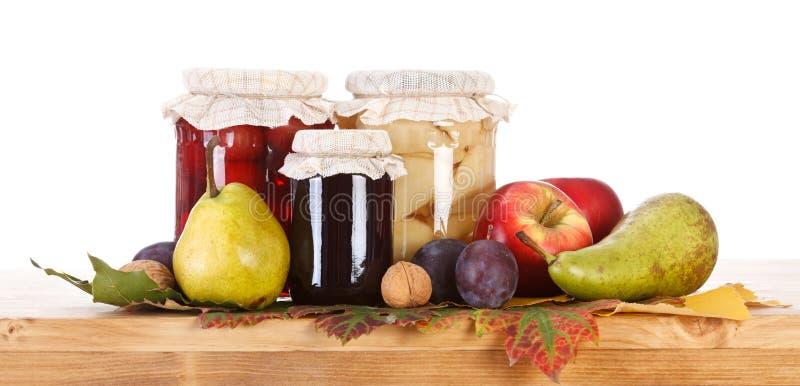 Conservas da fruta imagem de stock