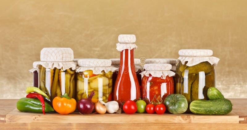Conservas vegetais fotos de stock