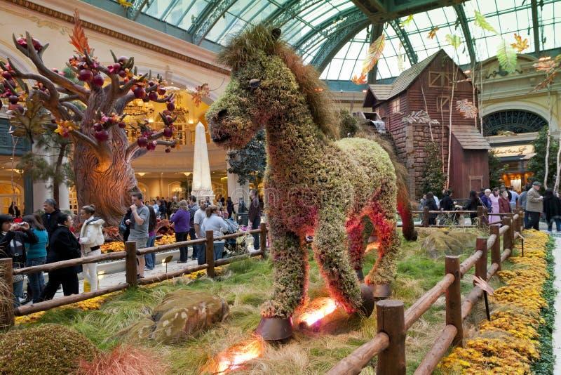 Conservatório de Bellagio & jardins botânicos foto de stock royalty free