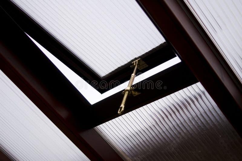 Conservatório do indicador da clarabóia foto de stock