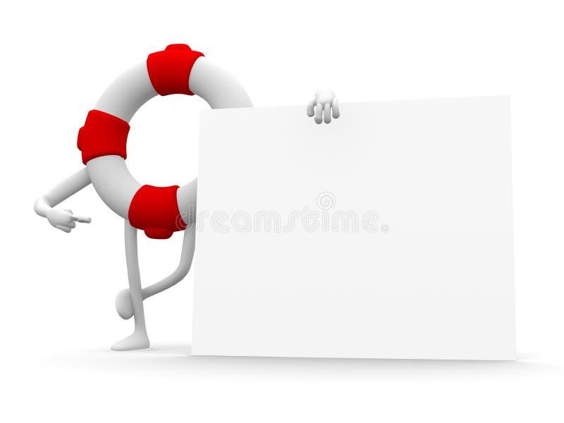 conservateur 3d et un panneau blanc illustration libre de droits