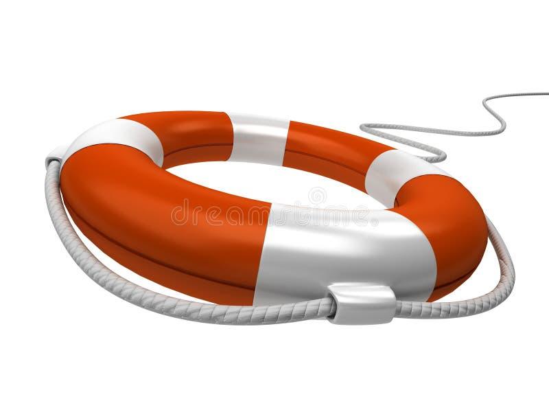 Conservateur 3d orange d'isolement avec la corde illustration de vecteur